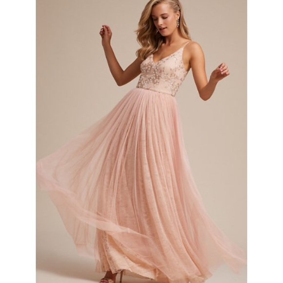 72d9c056fb72 Adrianna Papell Dresses | Bhldn Cluny Blush Bridesmaid Dress | Poshmark